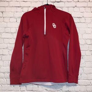 Colosseum Crimson OU Quarter Zip Hoodie